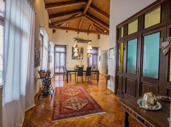 attico in villa liberty