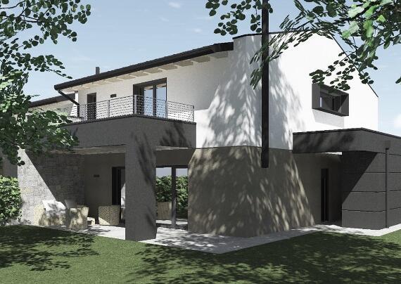 Villa a schiera di testa a Torreano di Martignacco